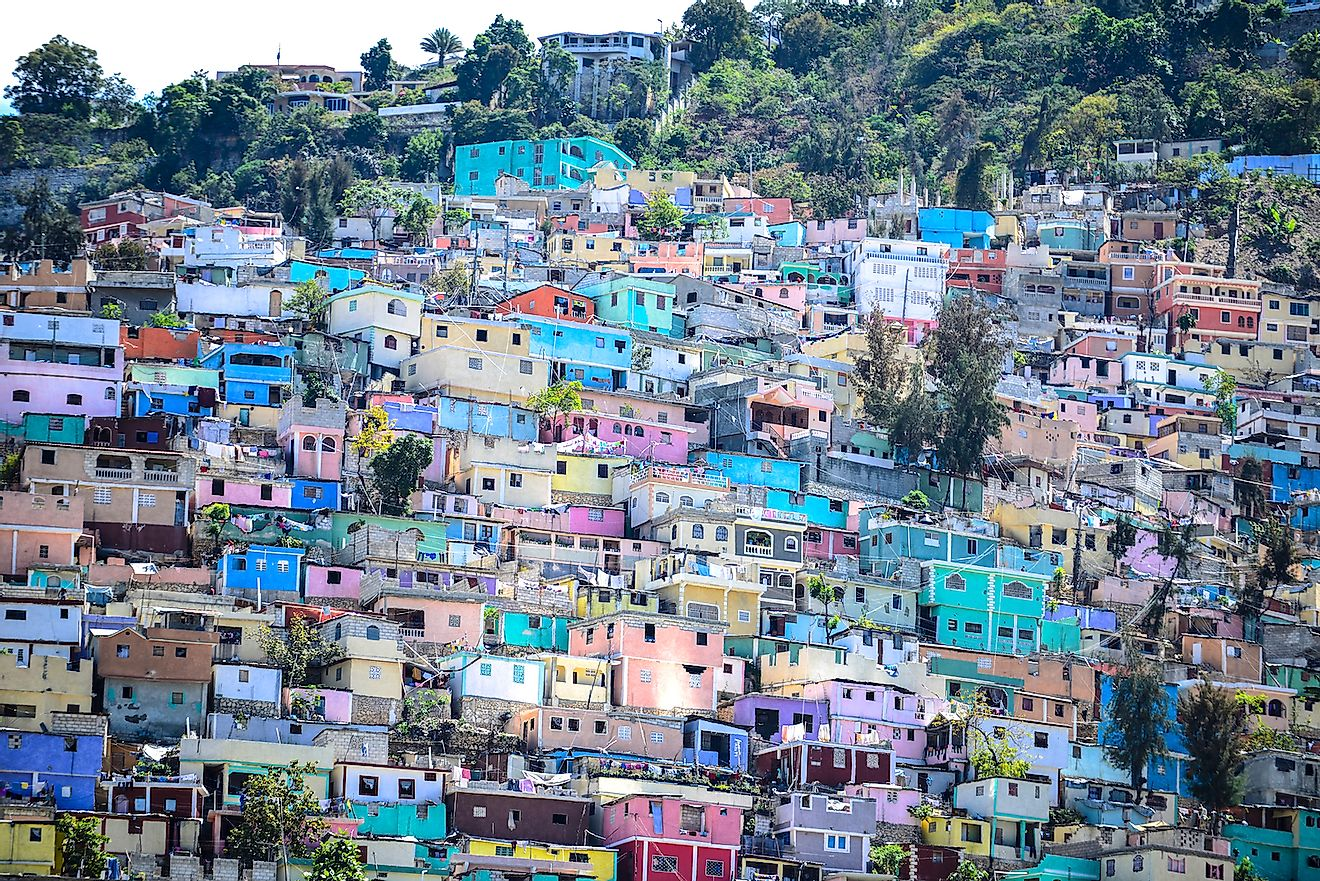 Port-au-Prince, the capital of Haiti, is the world's eighth most densely populated city. Image credit: Sylvie Corriveau/Shutterstock.com