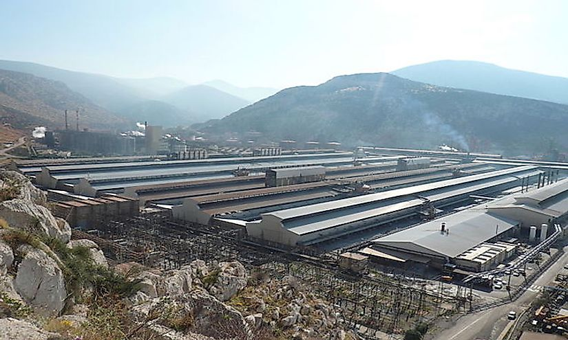 An aluminum factory in Greece.