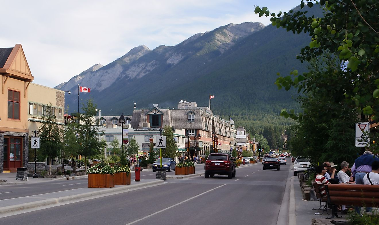 Banff Avenue, the main thoroughfare of the Town of Banff. Image credit: InSapphoWeTrust/Flickr.com