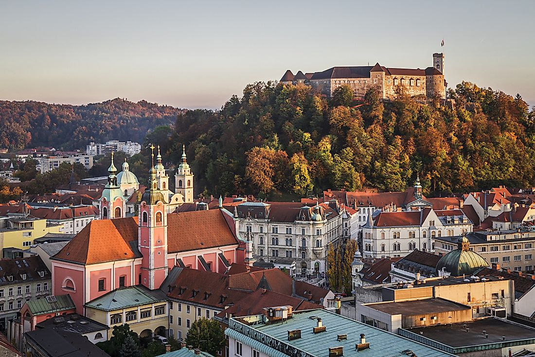 Ljubljana, the capital of Slovenia.