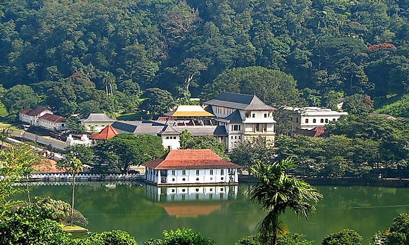 The Temple of the Tooth in Kandy is one of the most holy sites in Sri Lanka as it possibly houses the original tooth of Lord Buddha.