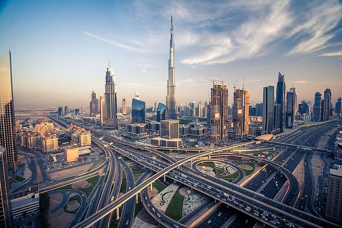 The Burj Khalifa in Dubai is the tallest building in the world.