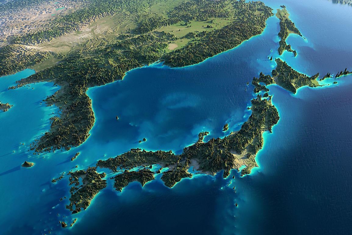 Japan is an island nation separated from Asian mainland by the Sea of Japan.