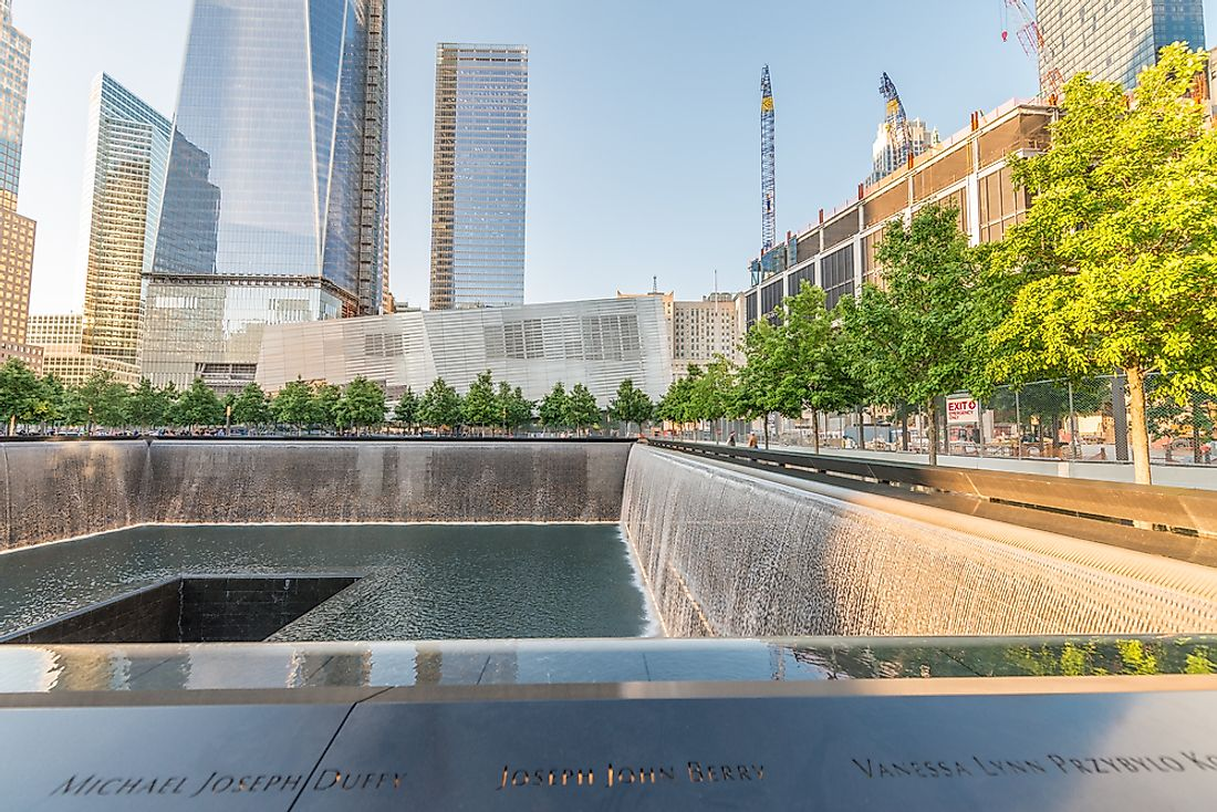 The 9/11 memorial in New York. Editorial credit: pisaphotography / Shutterstock.com.