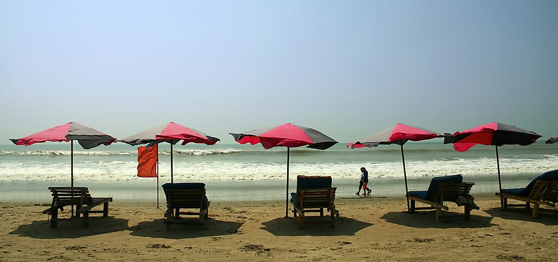 Cox's Bazar (pictured) is the third longest beach in the world, and one of Bangladesh's most popular tourist hotspots.