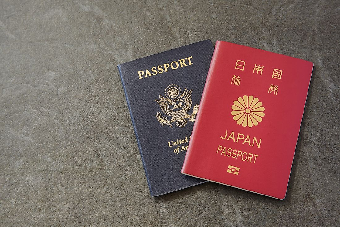 Individuals who hold dual citizenships may have two passports.
