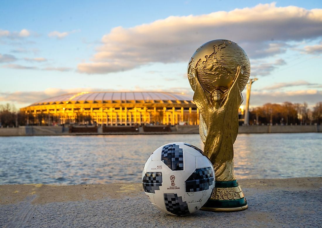 The 2018 World Cup is being held in Russia. Editorial credit: fifg / Shutterstock.com