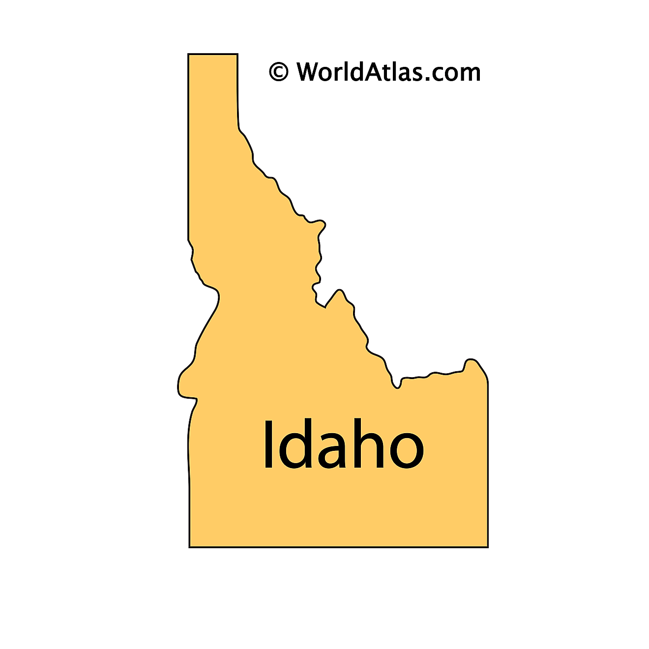 Outline Map of Idaho