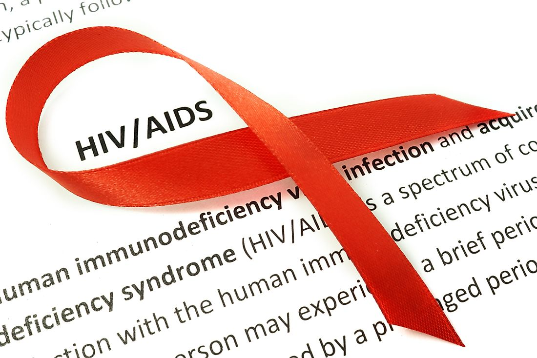 The red ribbon is the universal symbol of HIV/AIDS awareness.