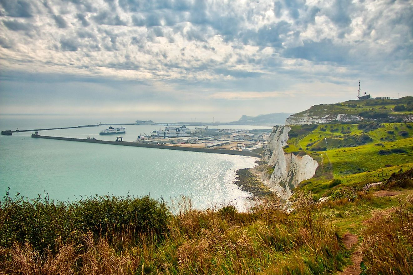 Port of Dover, English Channel, UK.