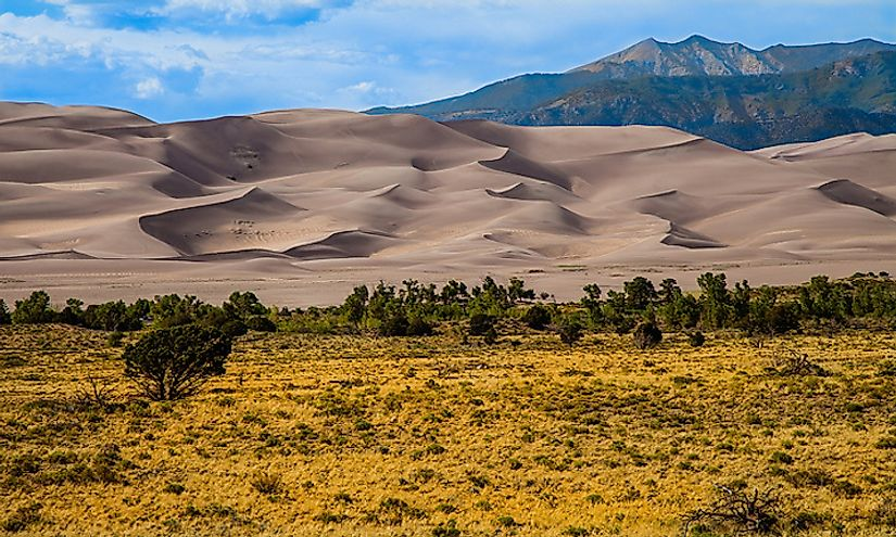 The spectacular landscape of the Great Sand Dunes National Park.