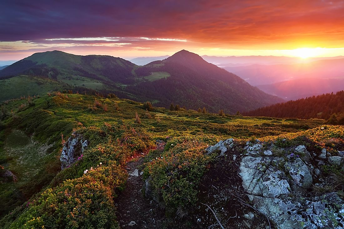 The Carpathian Mountains is the second-longest mountain range in Europe.