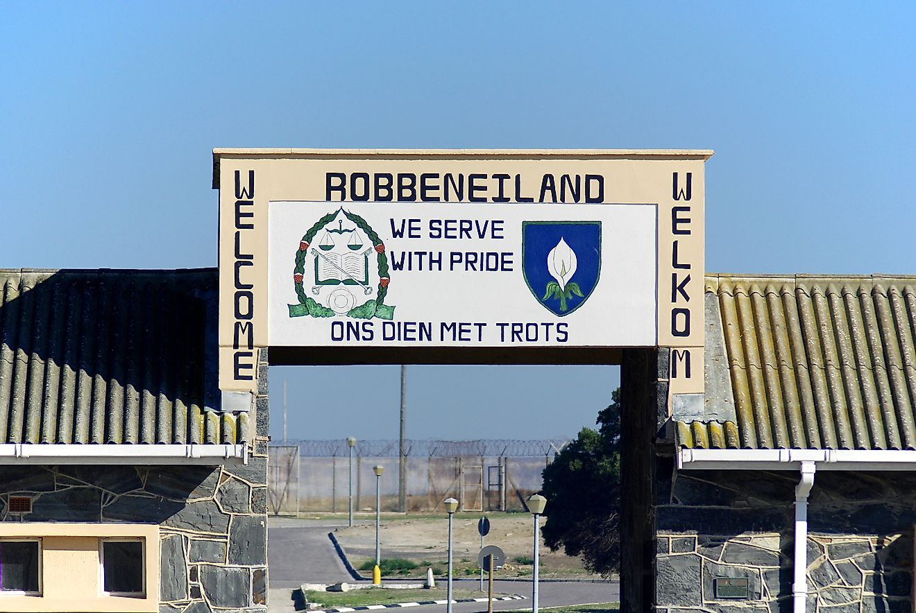 Outside Robben Island prison where former President of South Africa Nelson Mandela was imprisoned. Image credit: meunierd/Shutterstock.com