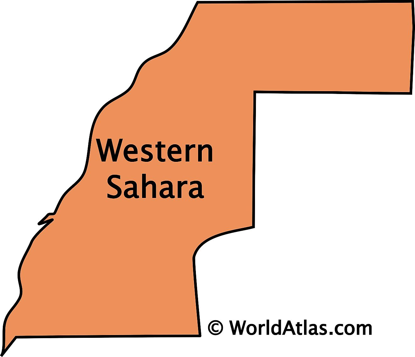 Outline Map of Western Sahara