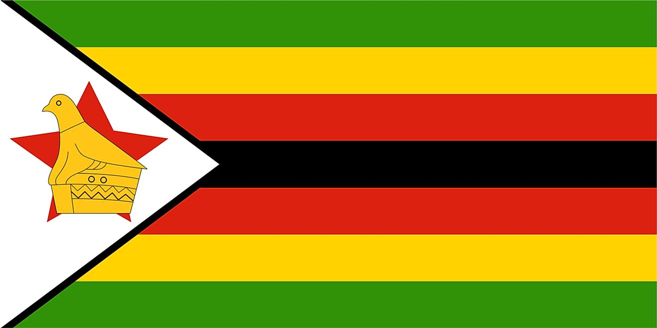 Flag of Zimbabwe.
