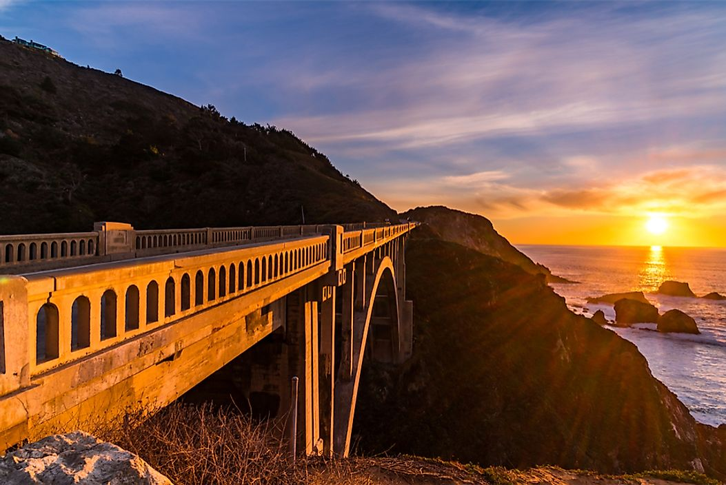 The Bixby Creek Bridge along California's Pacific Coast Highway (PCH).