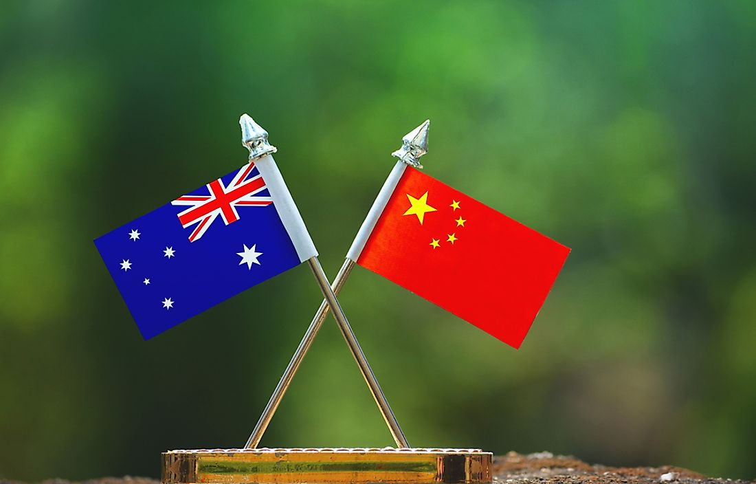 China is the biggest trade partner of Australia.