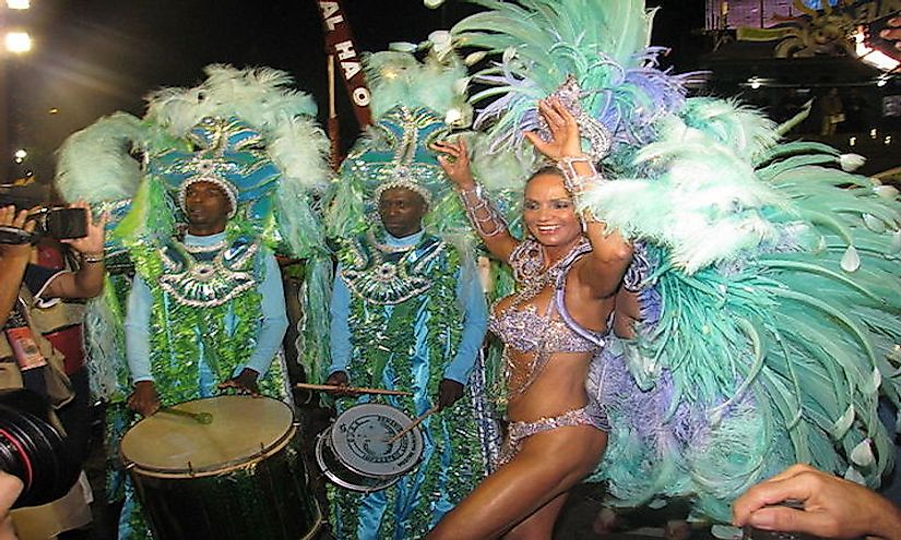 Samba dancer performing in Brazil