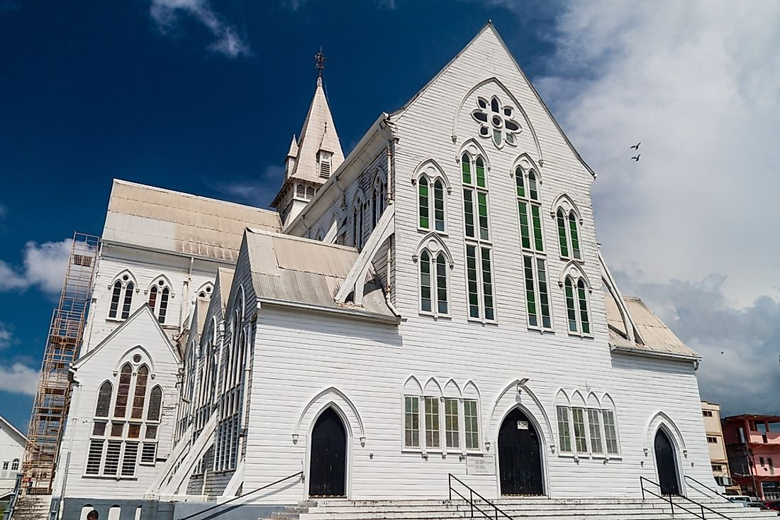St. George's Cathedral in Georgetown, Guyana.