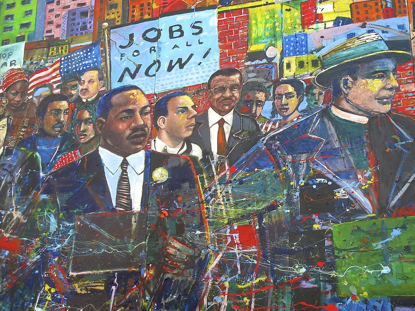 Atlanta, Georgia, USA - October 9, 2014: Martin Luther King Jr. Mural at the National Historic Site in Atlanta, GA. Image credit: Forty3Zero / Shutterstock.com