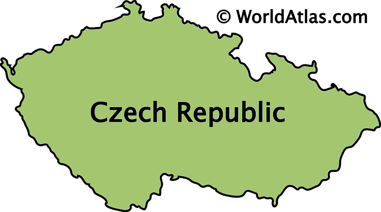 Outline Map of Czech Republic