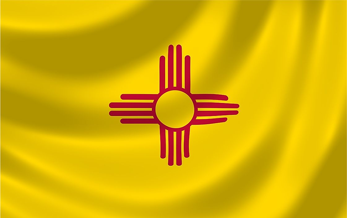 The state flag of New Mexico.