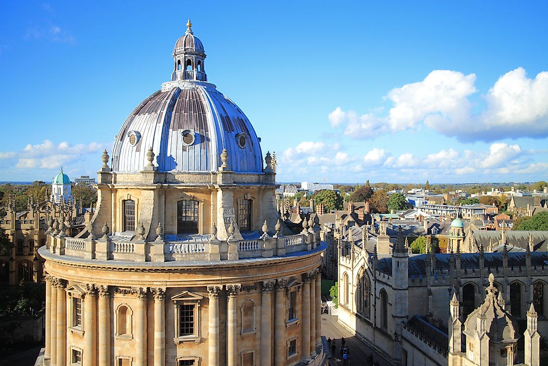 Oxford, one of the most famous universities in the United Kingdom.