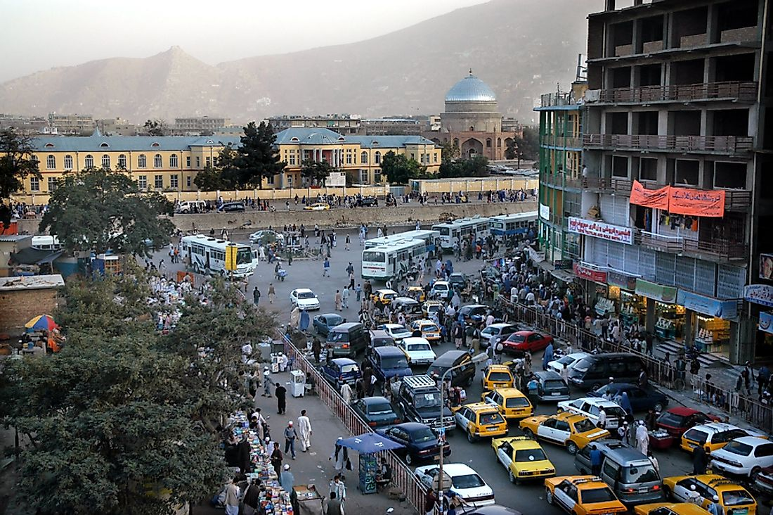 Kabul, the capital city of Afghanistan. Editorial credit: Jono Photography / Shutterstock.com.