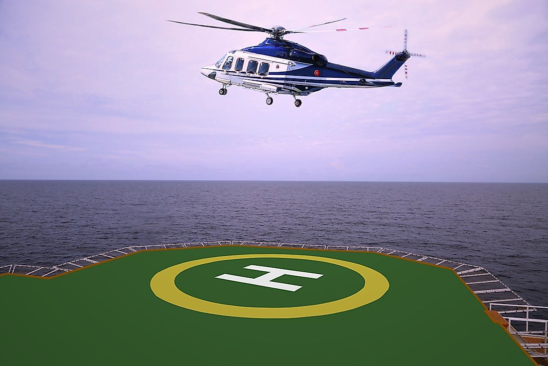 VLFSs can be used as floating airports and landing pads.
