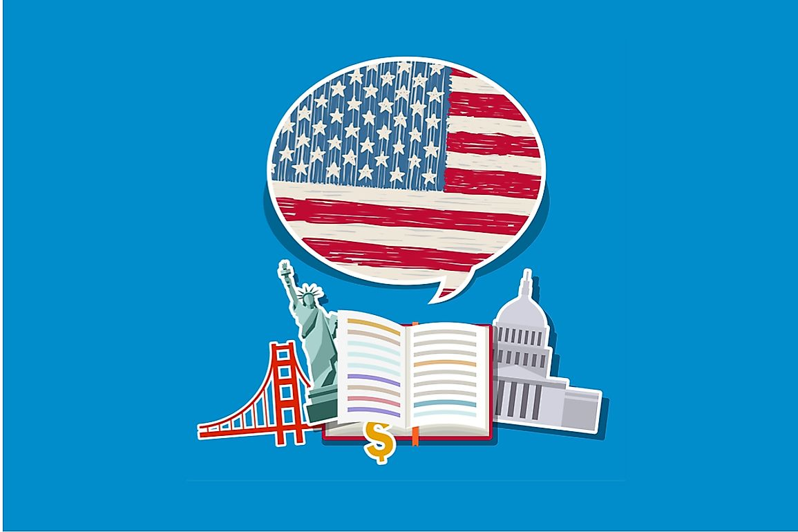 American English is the national, but not official, language of the United States.