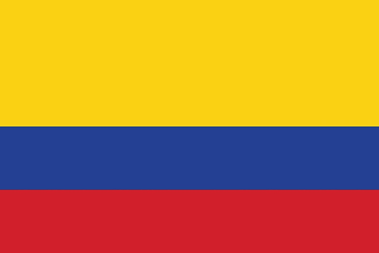 The official flag of Colombia.