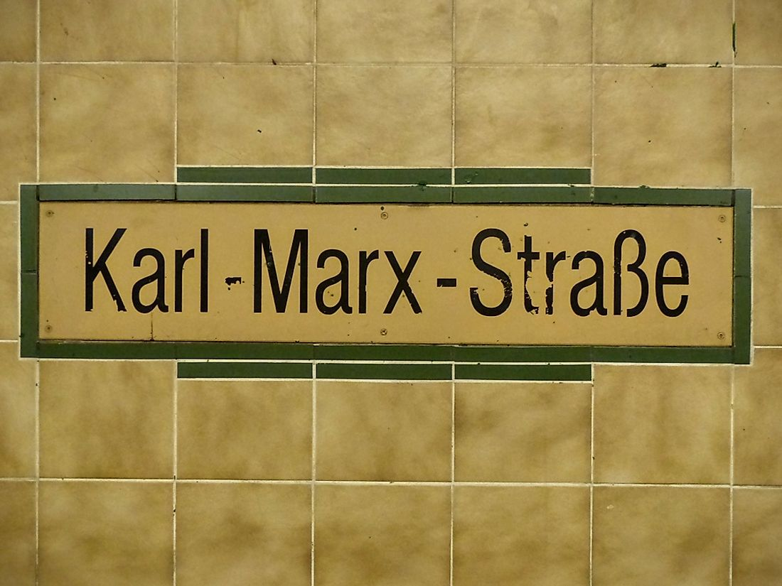 A station in the Berlin U-bahn named for Karl Marx. Photo credit:  LOCUBROTUS / Shutterstock.com.