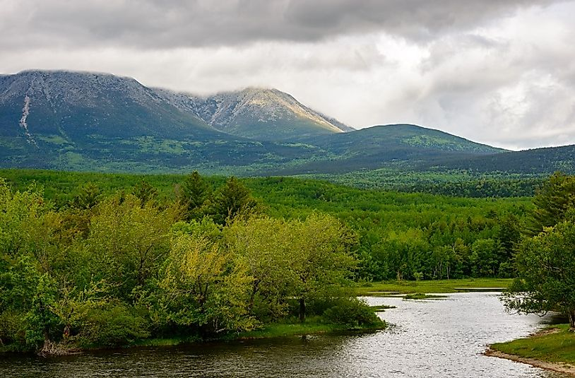 The Maine North Woods and Longfellow Mountains.