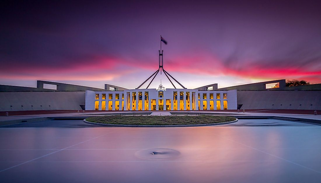 The Australian parliament in Canberra.