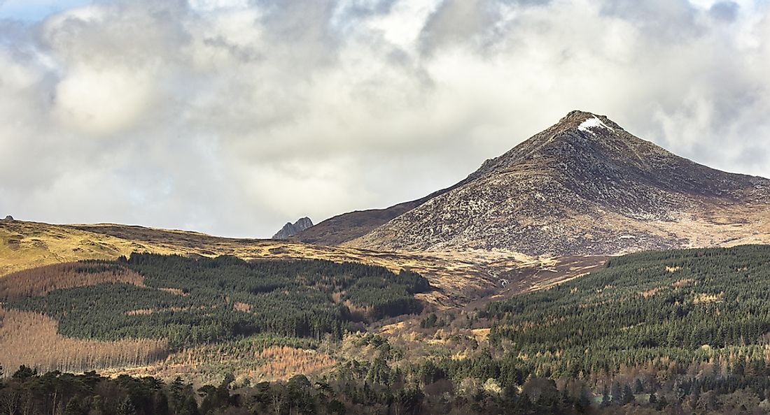 Goat Fell is the highest point of the Isle of Arran in Scotland.