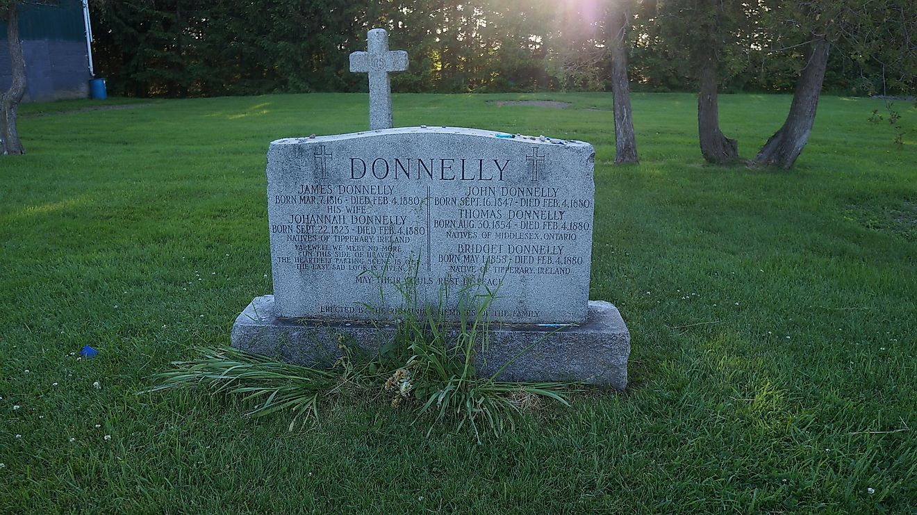 This feud involved an entire city going against a family called the Donnellys. Image credit: wikiwand.com
