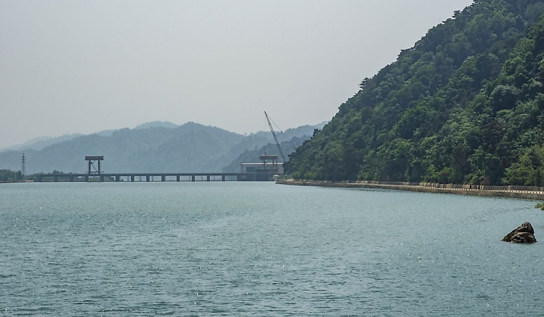 Hydo dam in North Korea.