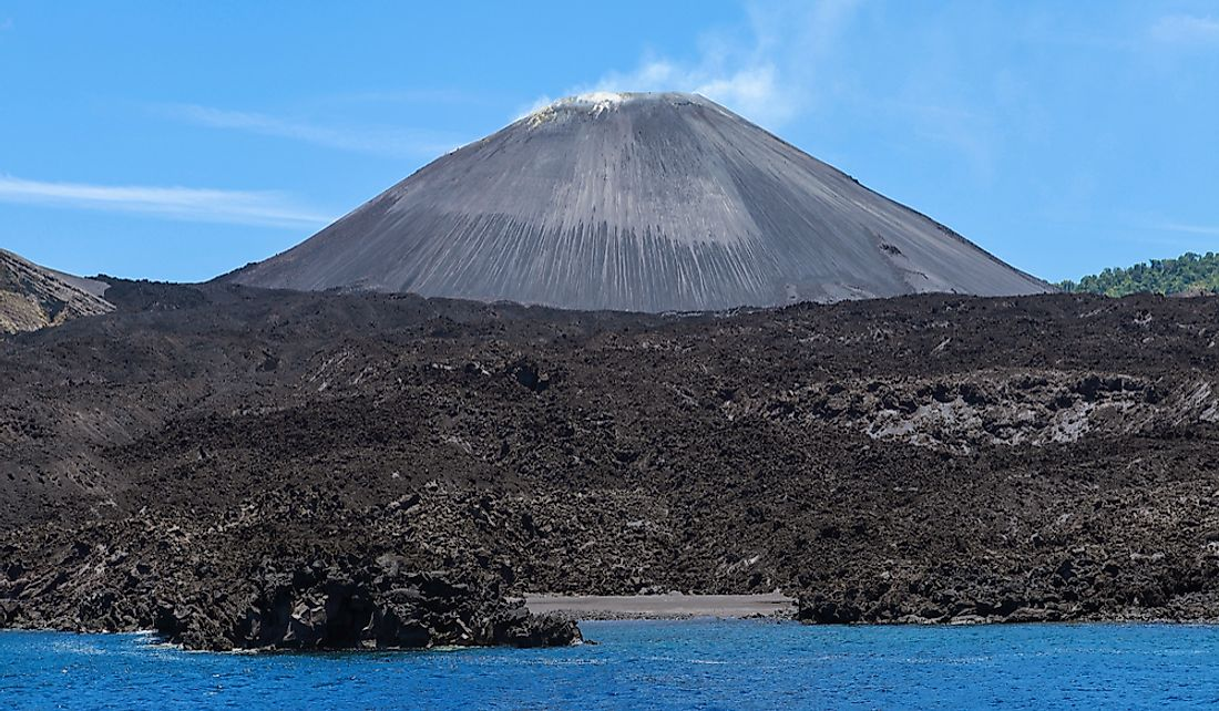 The volcano is the most prominent feature of Barren Island.