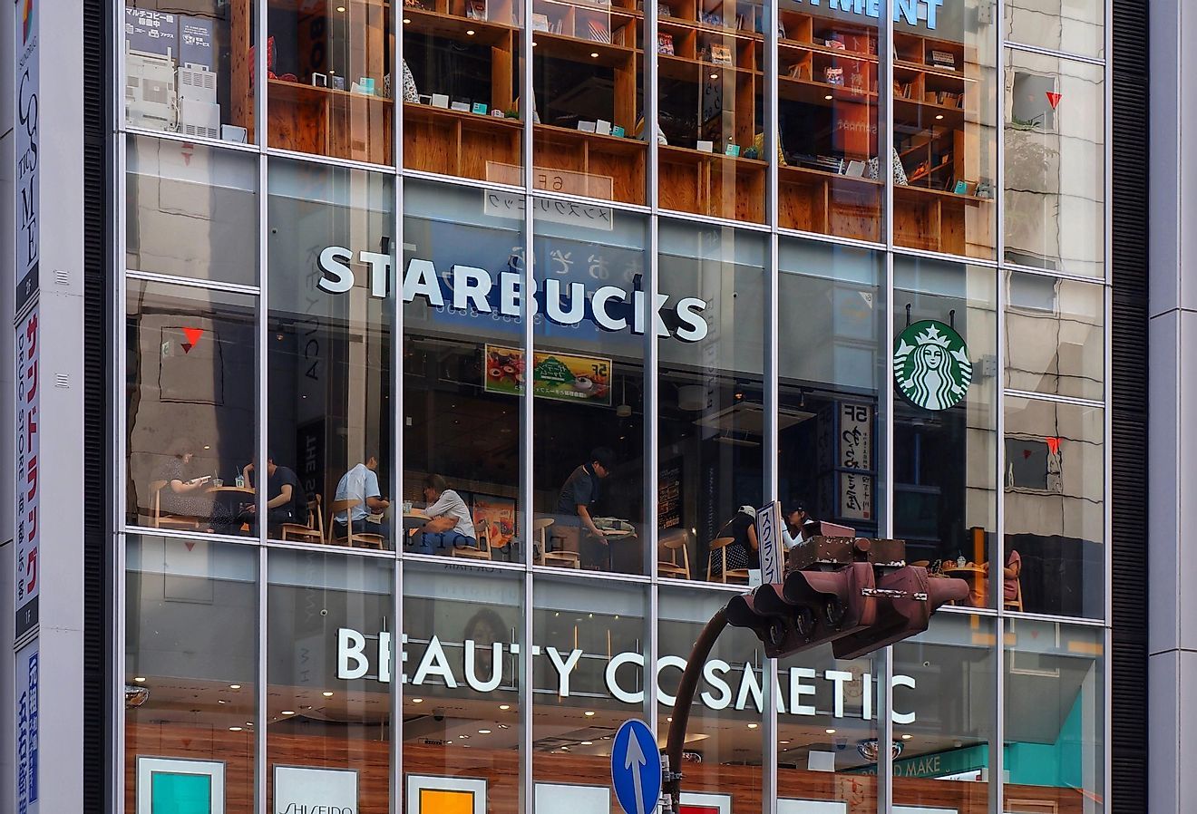One the largest Starbucks in the world is located in Tokyo, Japan. Photo by Andy Xu on Unsplash