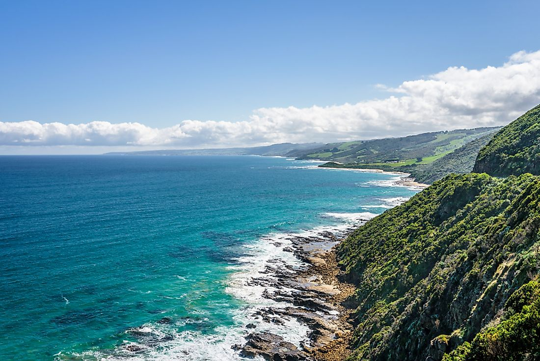 The Bass Strait separates Tasmania from the state of Victoria on mainland Australia.