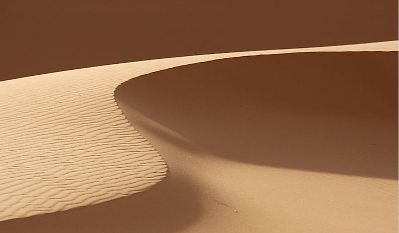 A barchan sand dune in Morocco.