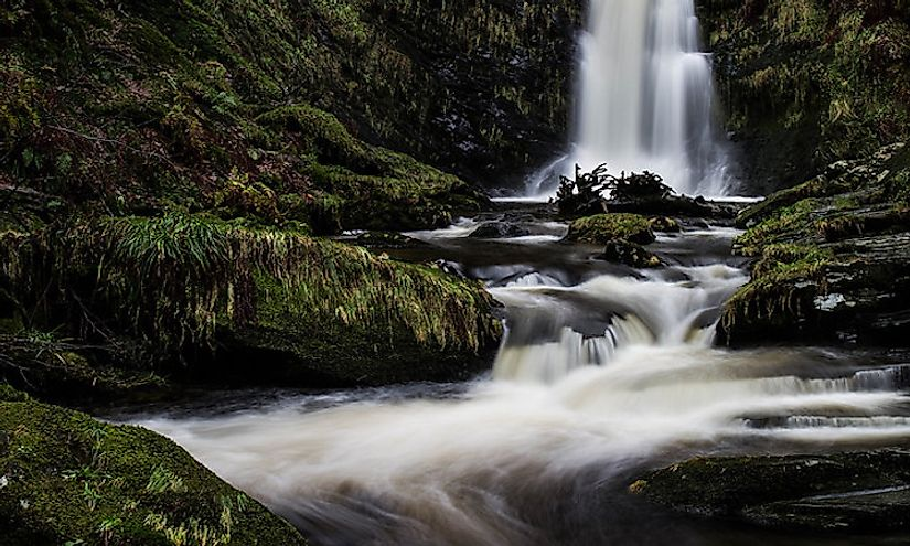 The Pistyll Rhaeadr Waterfall
