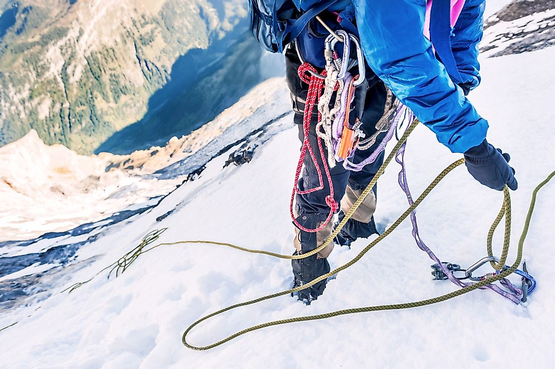 Climbing Mount Everest is impossible without the correct training and equipment.