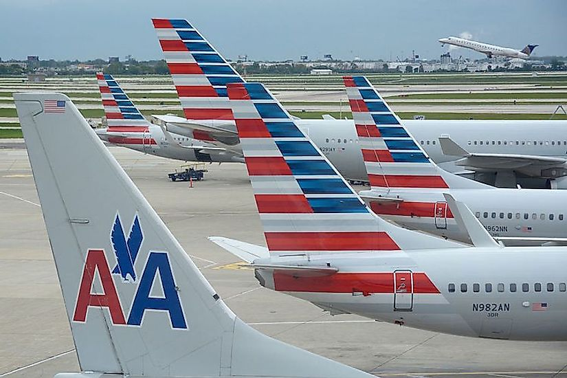 American Airlines aircraft at O'Hare.