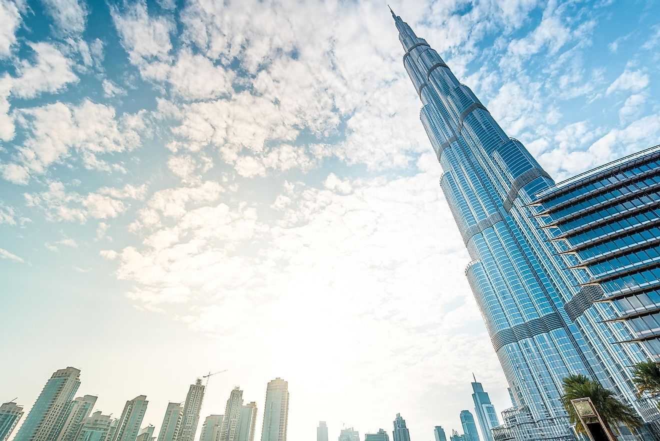 The gardens of Burj Khalifa are watered with water that is, technically, recycled. Credit: Konstantin Yolshin / Shutterstock.com