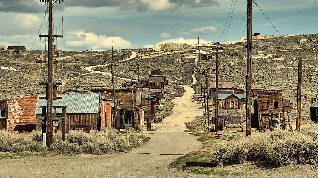 Located in the Bodie Hills, the once prosperous mining town of Bodie, California has been considered a ghost town since 1915.