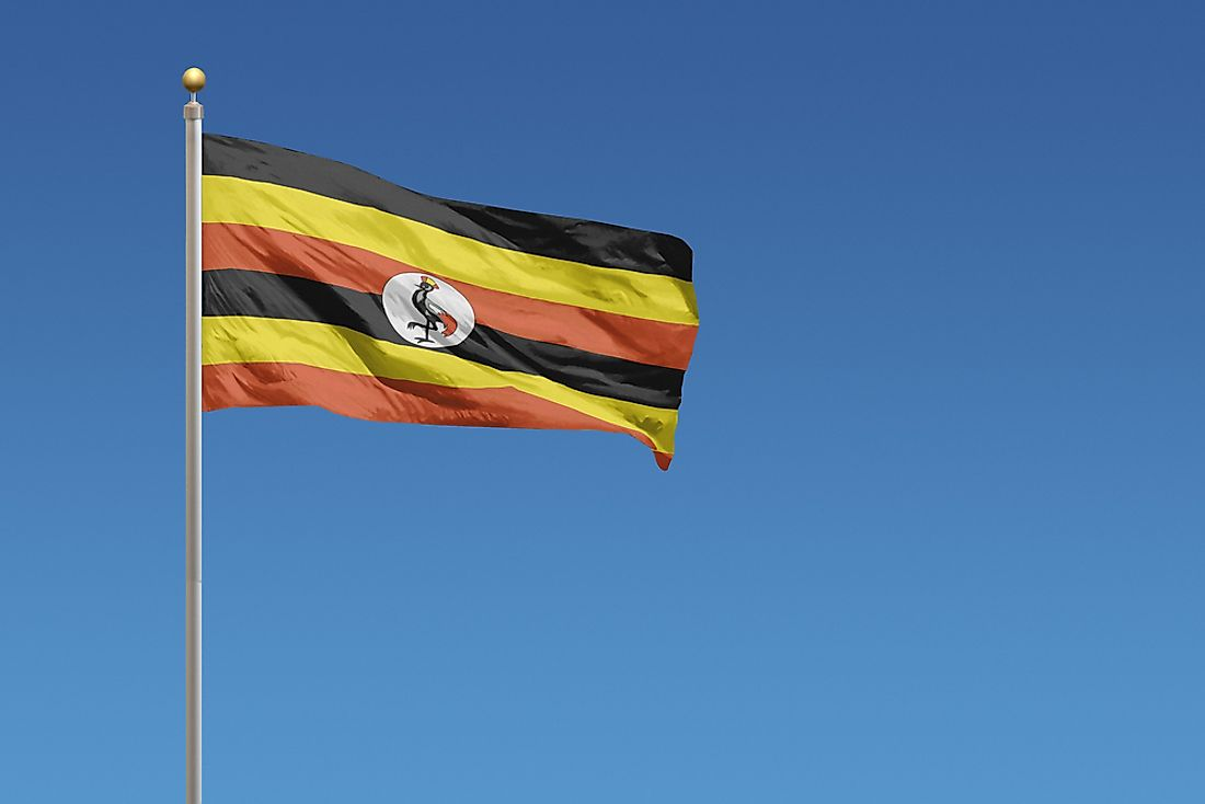 The flag of Uganda.