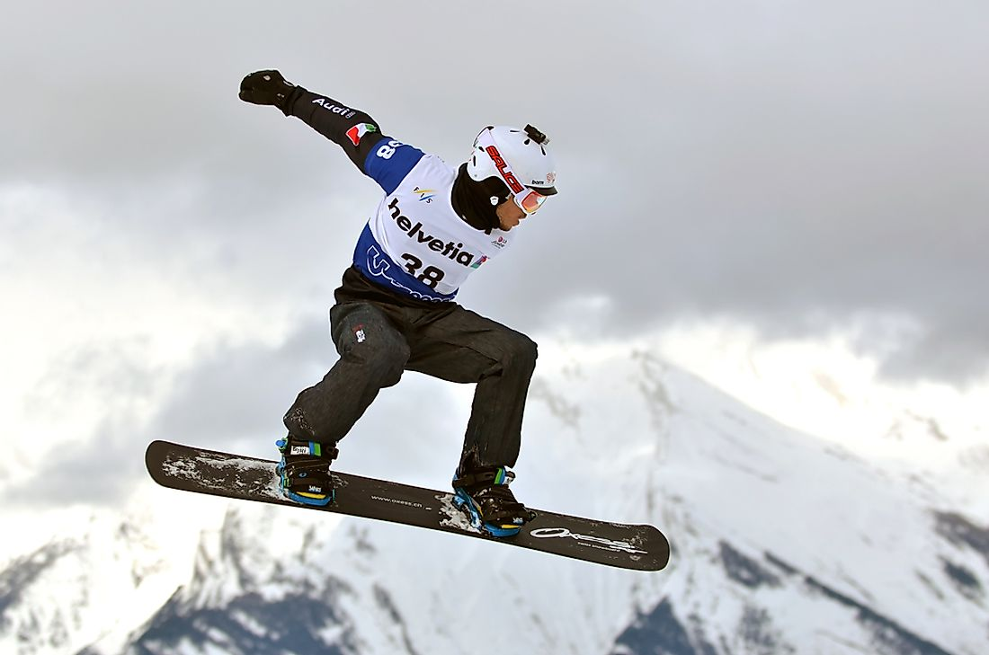 The FIS Snowboarding World Championships is an international snowboarding event. Editorial credit: mountainpix / Shutterstock.com