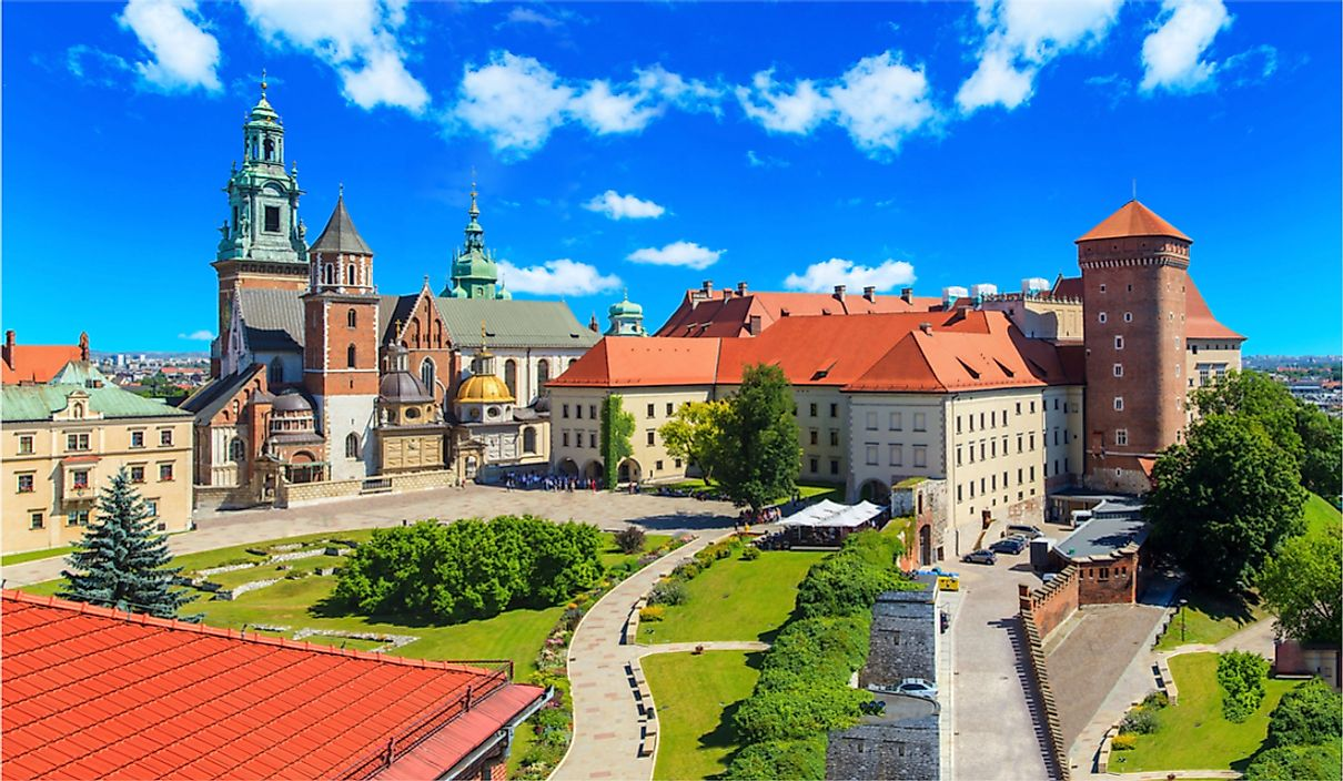 Wawel Castle in Krakow, Poland.