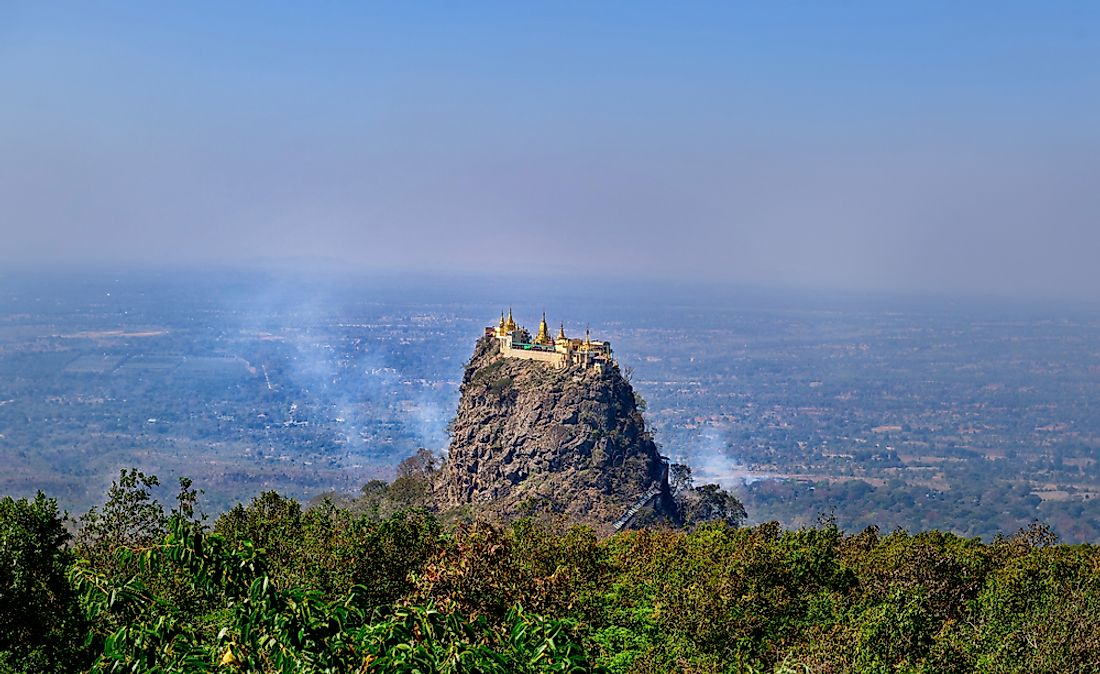 Popa Mountain National Park in Myanmar.